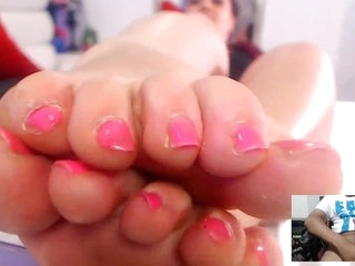 Skype Foot Fetish JOI with Sexy Latina
