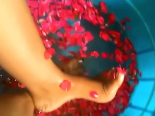 Indian mistress feet washing HD