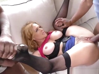 CastingCouch-X - Bree Mitchell gets huge facial from her casting agent