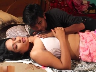 Desi shortfilm 9 - Bhabhi's big boobs squeezed & kissed hard, nipple poke