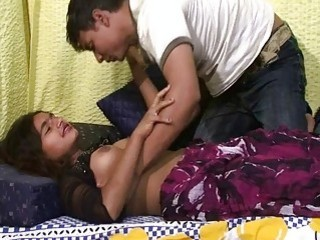Nasty Indian babe and her sex starved boyfriend bang wildly