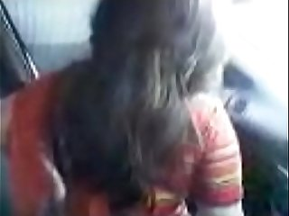 Indian Girl in Car with Boyfriend watch full video on indiansxvideo.com