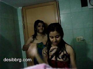 indian-two-hot-hostel-girls-enjoy-dancing-in-shower-getting-wet