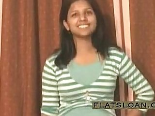 Indian girl stripping and pissing