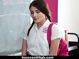 Teen girl enjoy with her teacher