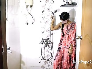 Skinny Indian Sister In Bathroom Filmed By Her Horny Brother While Taking Shower